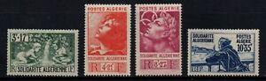ALGERIA, SCOTT # B47-B50, MINT LIGHTLY HINGED SET OF SOLIDARITE ALGERIENNE, MLH