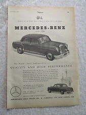 MERCEDES BENZ TYPE 220 A  1954 POSTER AD ADVERT READY 2 FRAME A4 SIZE