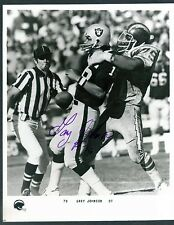 San Diego Chargers autograph signed 8x10 photo GARY JOHNSON (d) Big Hands tough