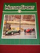 MOTORSPORT - MAY 1962 VOL XXXVIII # 5