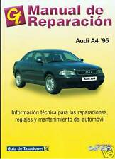 MANUAL DE TALLER Y REPARACION  AUDI A4 GAS Y DIESELy version QUATTRO DESDE 1995