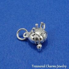 Silver PIN CUSHION Sewing Seamstress CHARM PENDANT