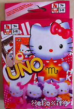Brand New Hello Kitty UNO Playing Cards Games Number 1 For Family Fun