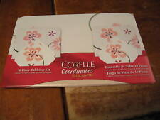 NEW Corelle PRETTY PINK  Placemats + Coasters Set