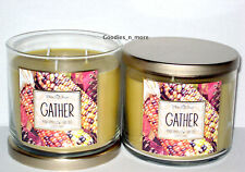 2 New Bath & Body Works White Barn GATHER MARSHMALLOW FIRESIDE Scented Candles