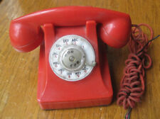 Vintage Red Western Electric Bell System Rotary Dial Desk Telephone