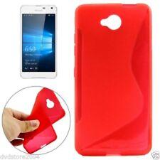 Custodie preformate/Copertine rossi modello Per Microsoft Lumia 650 per cellulari e palmari