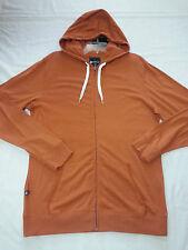 Matix Builders Zip Hoodie Jacket Sz Large Clay Orange New %100 Cotton Surf