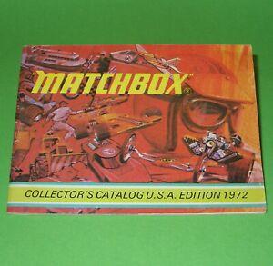Matchbox / 1972 USA Edition Model Range Catalogue