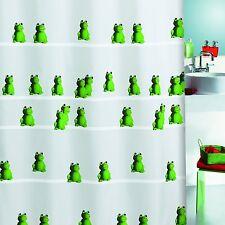Quack Green Grün mit Frosch Textil Duschvorhang 180 x 200 cm. Markenware Frog