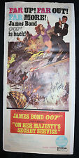 On Her Majesty's Secret Service Window Card - Signed by George Lazenby - 1969