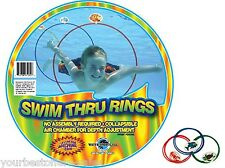 Swimming Ring Sports Ring Water Sports Rings Swim Thru Rings Kids 3 Pack