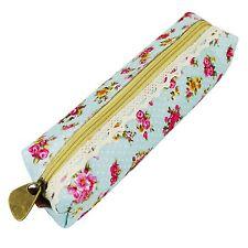 Fashion Flower Floral Lace Pencil Pen Case Cosmetic Makeup Bag Zipper Pouch