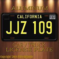 JJZ 109 Steve McQueen's 1968 Mustang BULLITT Prop Aluminum License Plate New