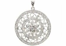Collares y colgantes de joyería con diamantes colgante en oro blanco VS1