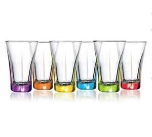 LAV Coloured Vodka Liqueur Shot Glasses 100cc Set Of 6