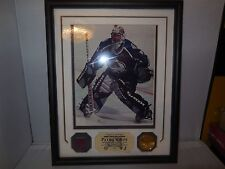 patrick roy 2000-01 game used stick piece and 24k overlay gold madallion coin