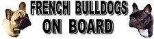 FRENCH BULLDOGS ON BOARD Car Sticker By Starprint