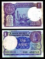 INDIA 1 RUPEES 1981 P 78a AUNC W/H
