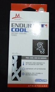 """MLB Chicago White Sox  ~ Mission Endura Cool Instant Cooling Towel ~ 12"""" x 33"""""""