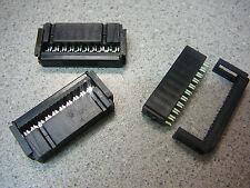 ANSLEY 636-2001 IDC Female Socket Connector w/Strain Relief 20-Pos **NEW** 3/PKG