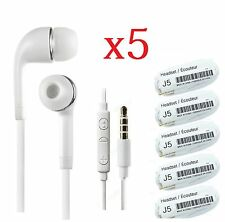 5x in-Ear Stereo Headset Earphone w/ Mic for Samsung Galaxy S3 S4 S5 Note 2 3 4