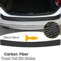 Car Rear Bumper Protector Guard Trim Cover Sill Carbon Fiber Protector Sticker