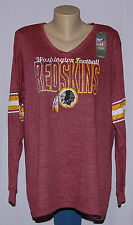 Washington Redskins Womens Thermal Long Sleeve Shirt Plus Size M - NFL