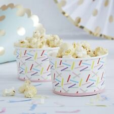 Ginger Ray Sprinkles Party Treat Tubs Ice Cream Sweets Candy Bowl