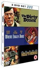 Where Eagles Dare/Kelly's Heroes/Dirty Dozen (2006) 3-Disc NEW UK REGION 2 DVD