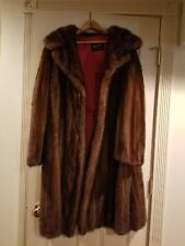 "Mink coat, ladies, red satin lining, vintage, ""shawl style collar"""