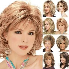 Women Short Curly Wigs Black Blonde Wavy Hair Wig Lady Natural Pexie Cosplay Wig