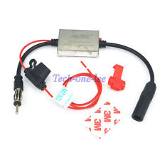 Car Radio Antenna FM Booster Amplifier Signal AMP Stereo Anti-interference