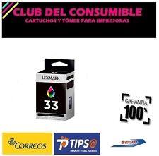 LEXMARK 33 TRICOLOR CARTUCHO DE TINTA ORIGINAL 18CX033E