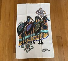 New listing Australia Balarinji Jabiru Stork Bird Linen Tea Towel Hand Towel