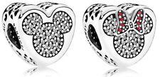 Authentic Pandora Charm S925 ALE Disney Mickey and Minnie True Love 792050CZ C24