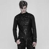 Punk Rave Rock Gothic Personality Man Steampunk Street Heavey Metal  T-Shirt Top