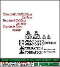 kit adesivi stickers compatibili  bmw motorrad + touratech + dakar