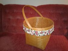 Large Longaberger Planter 1998 Basket W/Handle, Liner & Elastic Trim