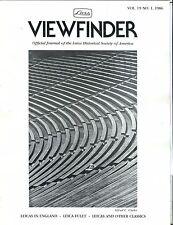 Leica Viewfinder Magazine Vol. 19 No. 1 1986 Alfred C. Clarke EX 032817lej