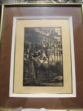 tableau Gravure sur bois de Etienne Gaudet vieux Blois N°2 (1891-1963)