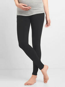 Gap Maternity Pure Body Full Panel Leggings Size XS Black NWOT