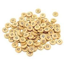 lot 20 boutons en bois 13 mm 4 trous couture  scrapbooking NEUF