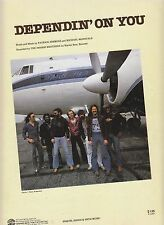Dependin' On You - The Doobie Brothers - 1979 Sheet Music