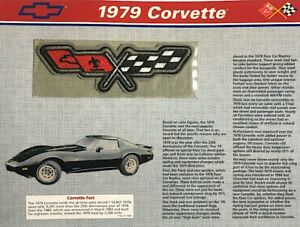 1979 CHEVROLET CORVETTE Willabee & Ward OFFICIAL PATCH COLLECTION with INFO CARD