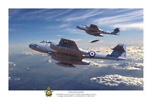 "Korean Cold War RAAF Gloster Meteor Jet Aviation Art Photo Print - 12"" X 18"""