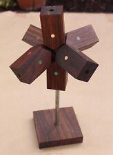Vintage Piet Hein Denmark Danish Mid Century Modern Wood Triple Cross Puzzle Art