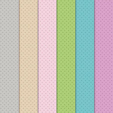 "Craft Creations Scrapbook Paper Coloured Polka Dots On Pale 12"" x 12"" 120gsm"
