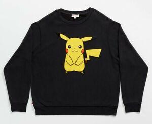 Authentic Levis × Pokemon Happy Pikachu Caviar Crewneck Sweatshirt Unisex Size S