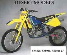 """Husaberg Original 1997 FX Decal set  Models """"FX400e,FX501e,FX600e""""OEM # 19009501"""